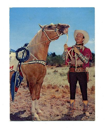 Trigger and roy Rogers